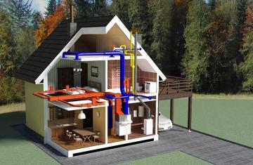 Организация вентиляции в загородных коттеджах
