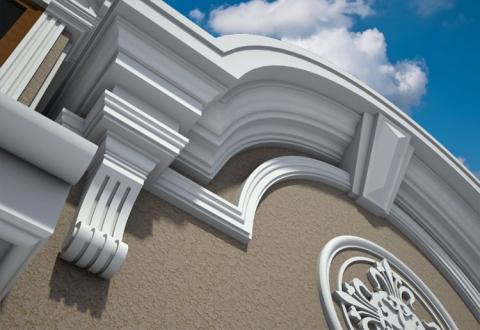 Отделка фасада декором из пенопласта: особенности материала и технология монтажа