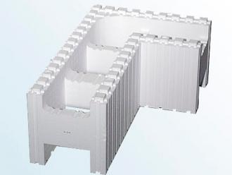 Блок стеновой угловой (левый/правый, Серия 25)