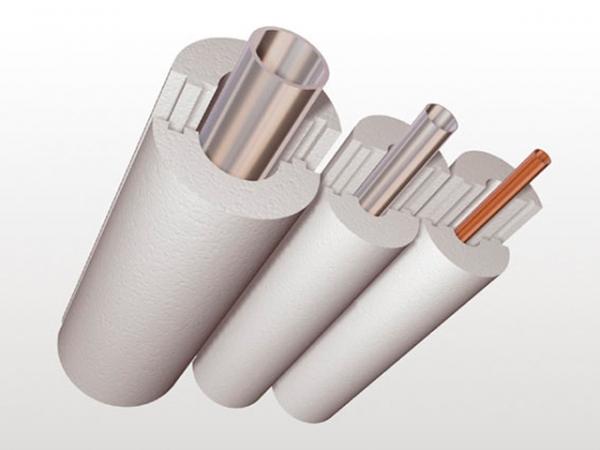 Утеплитель для труб из пенопласта ПСБ-С 35 (скорлупы) вн.диаметр 25 толщина стенки 50мм