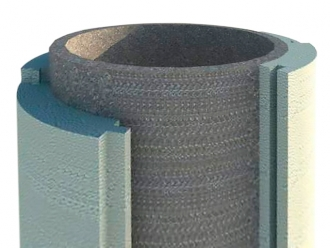 Скорлупа вокруг бетонной колодезной трубы диаметром 1170мм толщина стенки 50мм